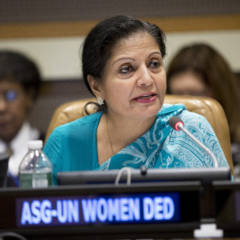 Lakshmi Puri, Assistant Secretary-General of the United Nations and Deputy Executive Director of UN Women