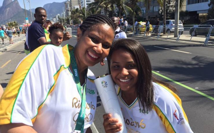 The day we carried the Olympic Torch for women and girls
